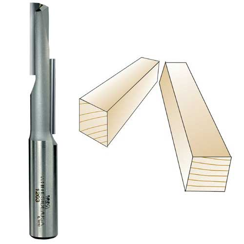 Whiteside 1203 Stagger Tooth Straight Flute Router Bit, 1/2-Inch Shank x 1/2-Inch CD x 2-1/8-Inch CL