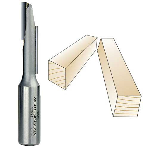 Whiteside 1201 Stagger Tooth Bit - Straight Flute - 1/2 Inch SH x 3/8 Inch CD x 1-1/2 Inch CL