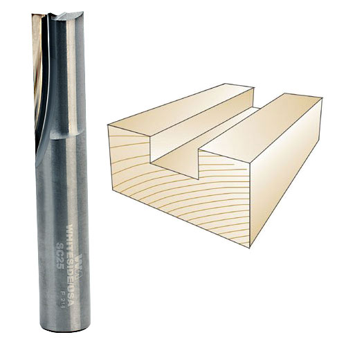 Whiteside SC25 Solid Carbide Straight Bit, 1/2 Inch SH X 1/2 Inch CD X 1 Inch CL
