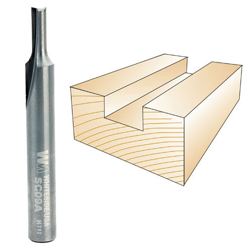 Whiteside SC09A 1/8-Inch Solid Carbide Straight Bit