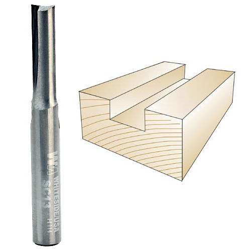 WHITESIDE #SC13 STRAIGHT PLYWOOD BIT - 1/4 INCH SH X 7/32 INCH CD X 3/4 INCH CL