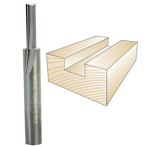 WHITESIDE #SC10A SOLID CARBIDE STRAIGHT BIT - 1/4 INCH SH X 5/32 INCH CD X 5/8 INCH CL