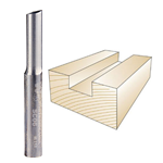 WHITESIDE #SC06 SOLID CARBIDE STRAIGHT BIT - 1/4 SH X 1/4 CD X 3/4 CL