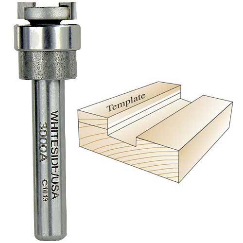 Whiteside 3000A Dado Clean Out Router Bit, 1/4-Inch Shank x 1/2-Inch CD x 1/8-Inch CL