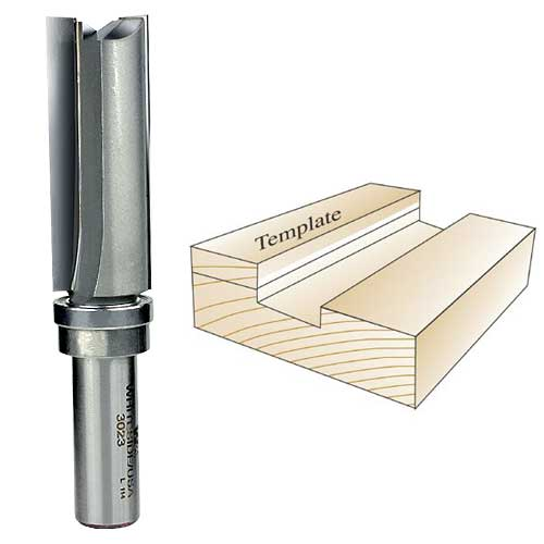 Whiteside 3023 Template Router Bit, 1/2-Inch Shank x 3/4-Inch CD x 2-Inch