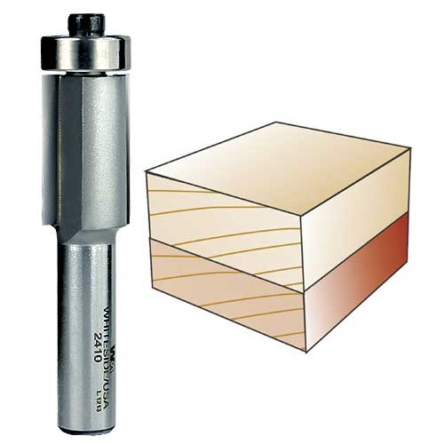Whiteside 2410 Flush Trim Router Bit, 1/2-Inch Shank x 3/4-Inch CD x 1-1/4-Inch CL
