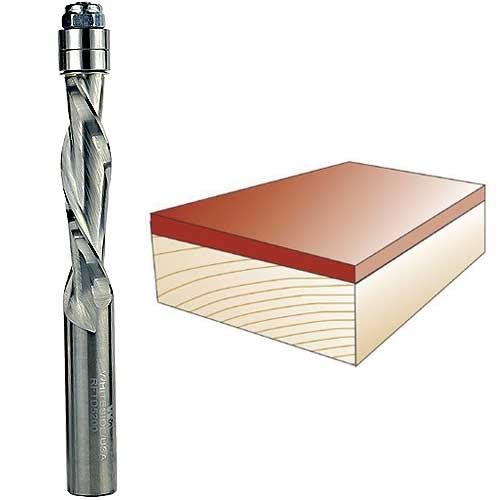 WHITESIDE #RFTD5200 SPIRAL DOWN CUT FLUSH TRIM BIT - 1/2 INCH SH X 1/2 INCH CD X 2 INCH CL