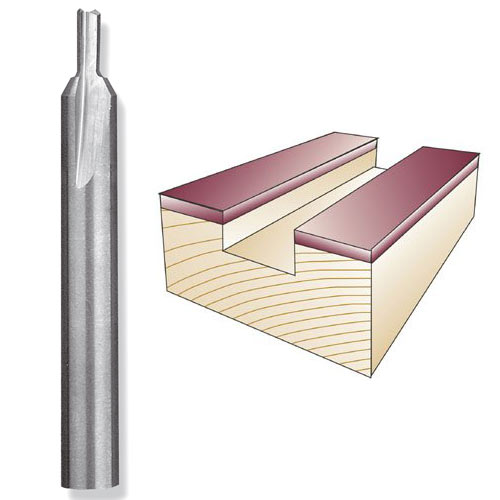WHITESIDE #SC34 FLAT BOTTOM VEINING BIT - 1/4 SH X 3/16 CD X 3/8 CL