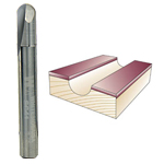 WHITESIDE #SC41 CORE BOX BIT - 1/4 SH X 1/8 R X 1/4 CD