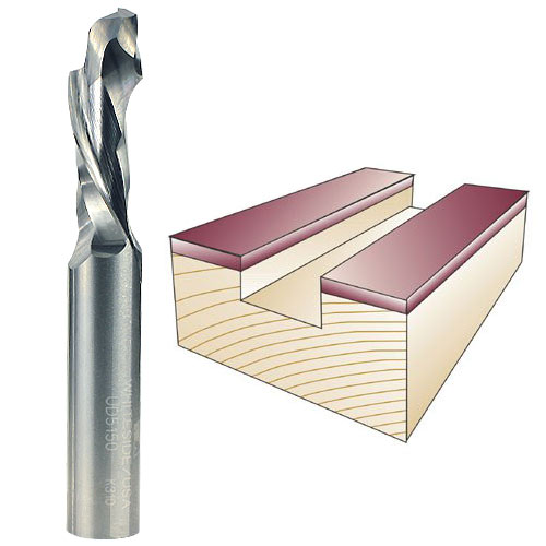 Whiteside UD5150 Spiral Up / Down Cut Router Bit, 1/2-Inch Shank x 1/2-Inch CD x 1-1/2-Inch CL