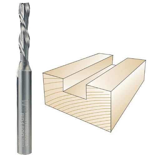 Whiteside #RD1800 Spiral Down Cut Bit - 1/4 Inch SH X 3/16 Inch CD X 3/4 Inch CL