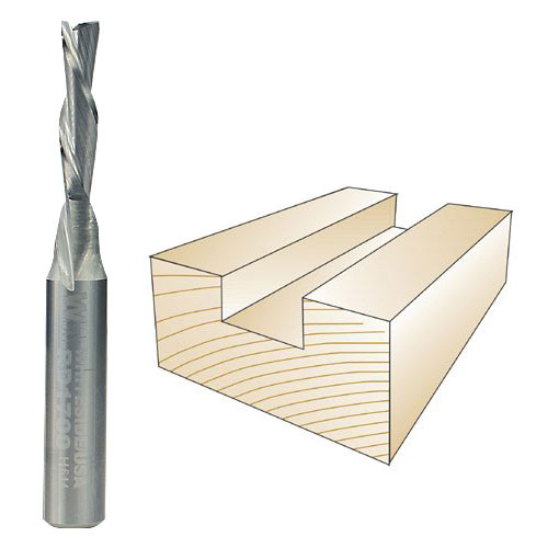 WHITESIDE #RD1700 SPIRAL DOWN CUT BIT - 1/4 INCH SH X 5/32 INCH CD X 5/8 INCH CL