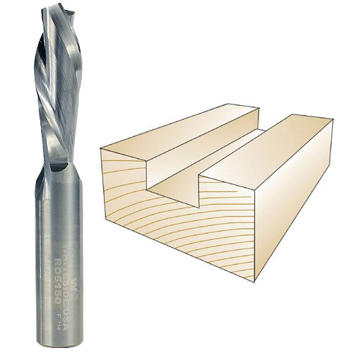 Whiteside #RD5150 Spiral Down Cut Bit - 1/2 Inch SH X 1/2 Inch CD X 1-1/2 Inch CL