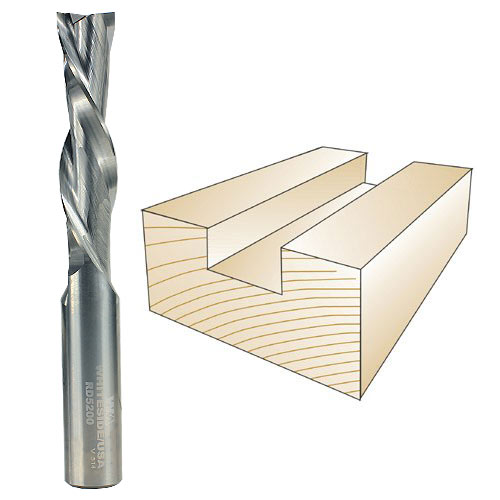 Whiteside Router Bits RD5200 Standard Spiral Bit with Down Cut Solid Carbide 1//2-Inch Cutting Diameter and 2-Inch Cutting Length