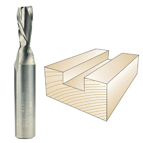 Whiteside RD4875 Spiral Down Cut Router Bit, 1/2-Inch Shank x 3/8-Inch CD x 3/4-Inch CL