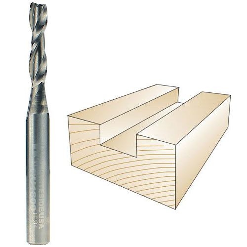 WHITESIDE #RU1800 SPIRAL UP CUT BIT - 1/4 INCH SH X 3/16 INCH CD X 3/4 INCH CL