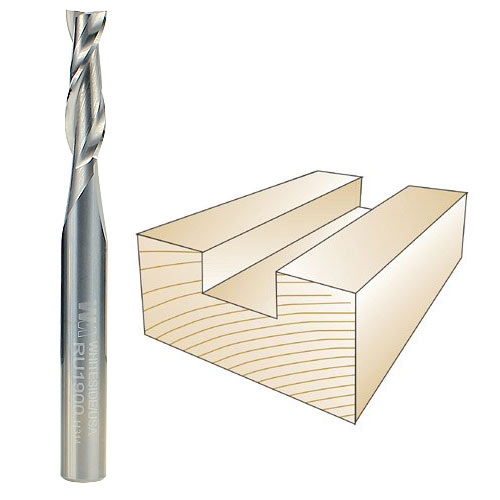 Whiteside #RU1900 Spiral Up Cut Bit - 1/4 Inch SH X 7/32 Inch CD X 3/4 Inch CL