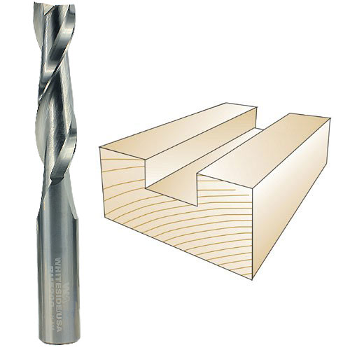 WHITESIDE #RU5200 SPIRAL UP CUT BIT - 1/2 INCH SH X 1/2 INCH CD X 2 INCH CL