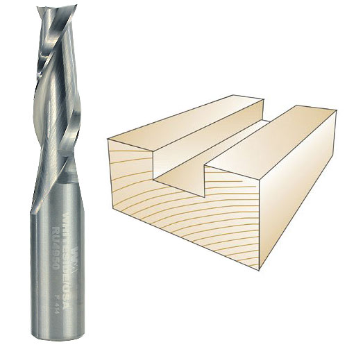 WHITESIDE #RU4950 SPIRAL UP CUT BIT - 1/2 INCH SH X 7/16 INCH CD X 1-1/4 INCH CL