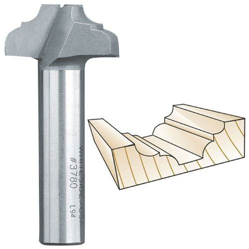 Whiteside 3780 Classical Flat Bottom Router Bit, 1/2-Inch Shank x 13/64-Inch R