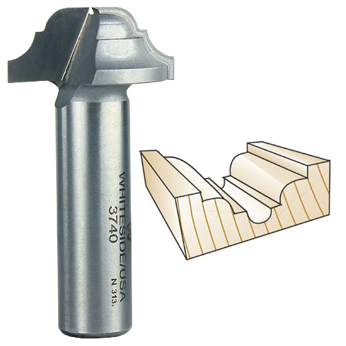 Whiteside 3740 Classical Round Bottom Router Bit, 1/2-Inch Shank x 3/16-Inch R