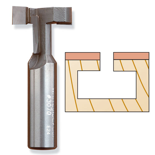 Whiteside 3070 T-Slot Cutter Router Bit, 1/2 x 1-1/16