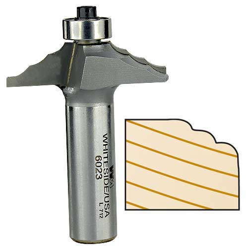 WHITESIDE #6023 FRONT FACE DOOR EDGE BIT - 1/2 INCH SH X 1-3/4 INCH LD