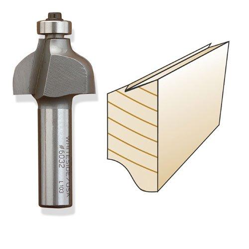 Whiteside 6032 Drawer Edge Finger Pull Bit - 1/2 Inch SH X 3/4 Inch CL