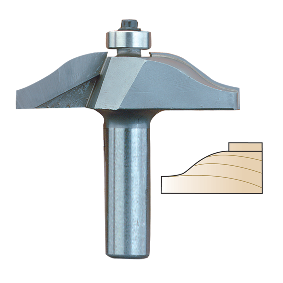 Whiteside 5951 2-Wing Medium Ogee Raised Panel Router Bit, 1/2-Inch Shank