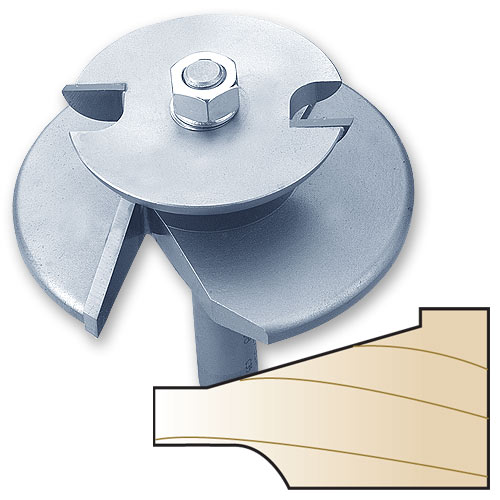 Whiteside 5920B 2-Wing Straight Raised Panel Router Bit with Back Cutter, 1/2-Inch Shank