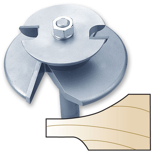 Whiteside 5920C 2-Wing Cove Raised Panel Router Bit with Back Cutter