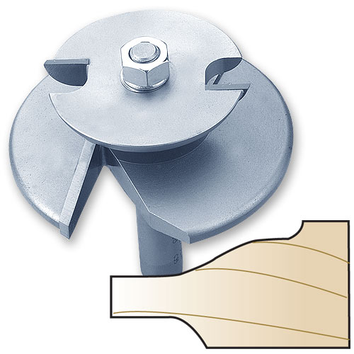 Whiteside 5920C 2-Wing Ogee Raised Panel Router Bit with Back Cutter, 1/2-Inch Shank