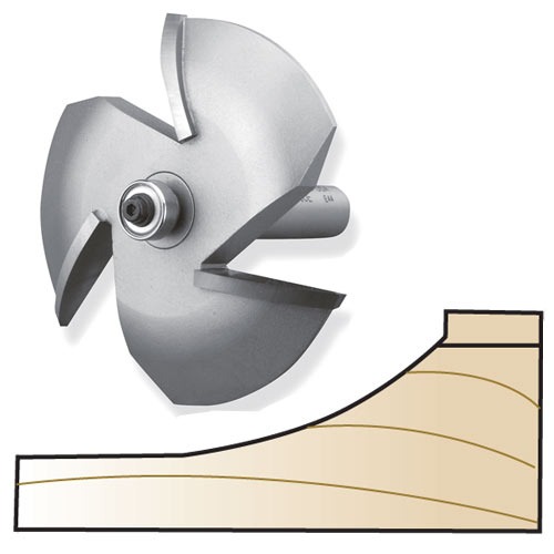 Whiteside 6000E 3-Wing Cove Raised Panel Router Bit, 1/2-Inch Shank