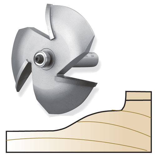 Whiteside 6000C 3-Wing Ogee / Cove Raised Panel Router Bit, 1/2-Inch Shank