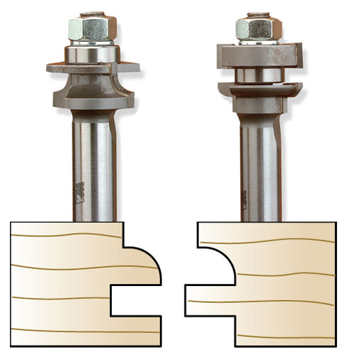 Whiteside 5740 Miniature Round Stile & Rail Set - 1/2 Inch SH X 1-1/8 Inch LD