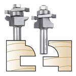 WHITESIDE #6001X PLYWOOD PANEL ROUND STILE & RAIL BIT SET - 1/2 SH