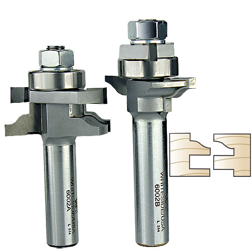 Whiteside 6002 Ogee Stile & Rail Router Bit Set, 1/2-Inch Shank