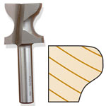 Whiteside 6046 Window Sill Edge / Finger Pull Bit - 1/2 SH X 3/8 R