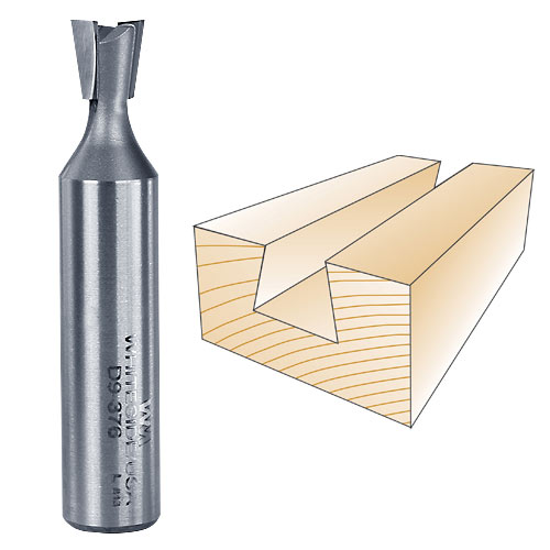 Whiteside D9-376 Dovetail Router Bit, 1/2-Inch SH x 3/8-Inch LD x 9 Degree