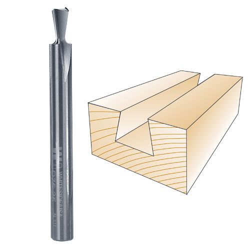 Whiteside D75-25 Dovetail Router Bit, 1/4-Inch SH x 1/4-Inch LD x 7 5 Degree