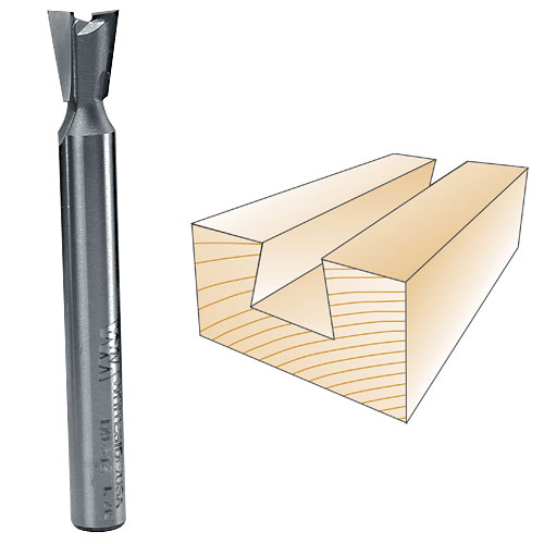 Whiteside D9-312 Dovetail Router Bit, 1/4-Inch SH x 5/16-Inch LD x 9 Degree