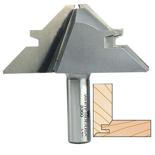 Whiteside 3360 45 Degree Lock Miter Bit - 1/2 Inch SH X 3-1/8 Inch LD