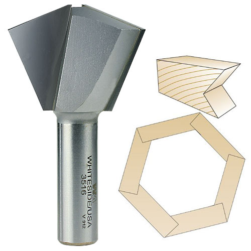 Whiteside 3516 Multi Side Bit - 1/2 Inch SH - 16 Sides