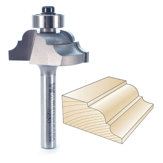 Whiteside 3230 Classical Pattern Router Bit, 1/4-Inch SH x 5/32-Inch R