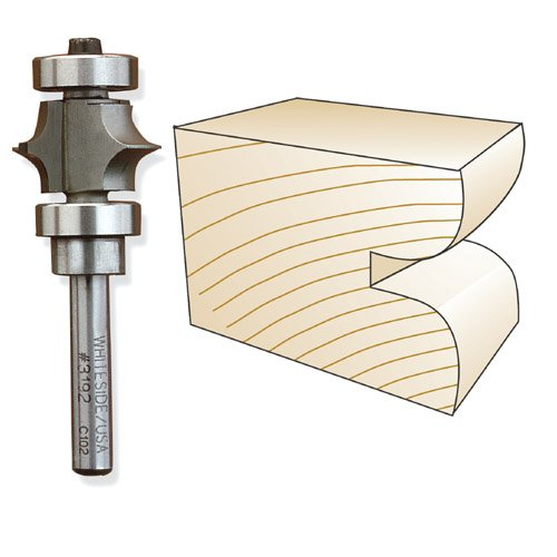 Whiteside 3196 Full Bead Router Bit, 1/4-Inch SH x 3/8-Inch R