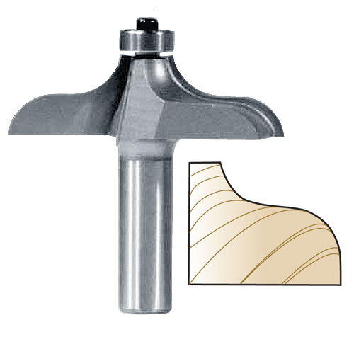 Whiteside 3296 Traditional Table Edge Router Bit, 1/2-Inch SH x 1-Inch PW