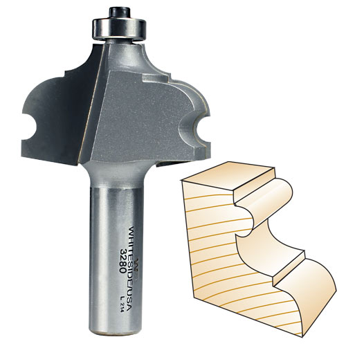 Whiteside 3280 French Provincial Molding Router Bit