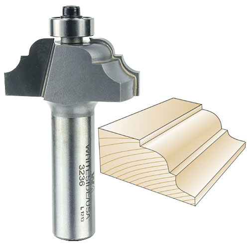 Whiteside 3236 Classical Pattern Router Bit, 1/2-Inch SH x 3/16-Inch R