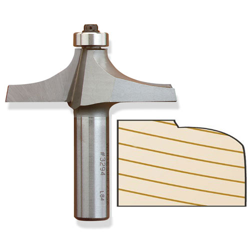 Whiteside 3294 Thumbnail Table Edge Router Bit, 1/2-Inch SH x 1-Inch PW