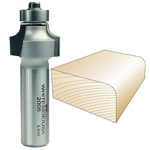 Whiteside 2005 Round Over Router Bit, 1/2-Inch SH x 3/16-Inch R